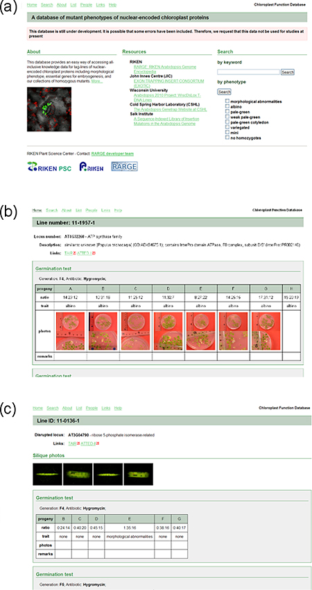 The Chloroplast Function Databaseの画像