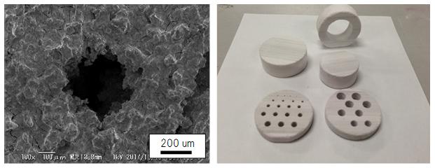 3次元積層造形物のさまざまな形状の写真
