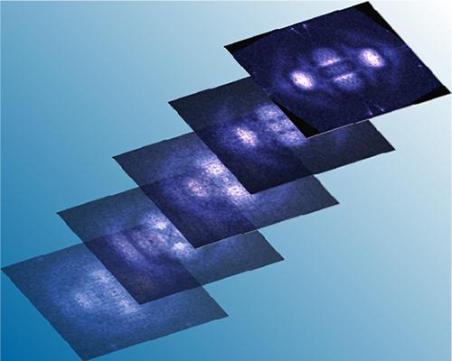 電子状態の一軸的方向性を反映する電子の干渉模様の図