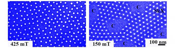 孤立スキルミオンの再結晶化の図