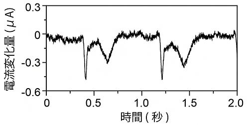 太陽電池駆動の皮膚貼付け型心電計測デバイスを用いた心電の測定結果の図