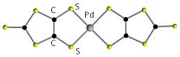 金属ジチオレン錯体の図