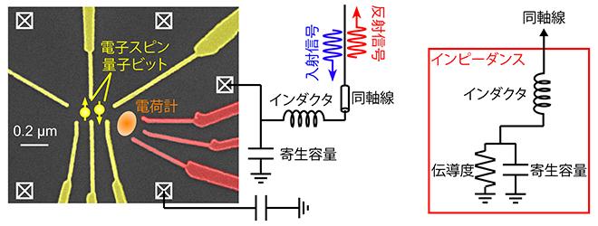 高周波反射測定セットアップと等価回路の図