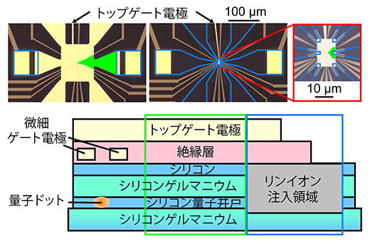 高周波反射測定が可能な試料設計と試料構造の図