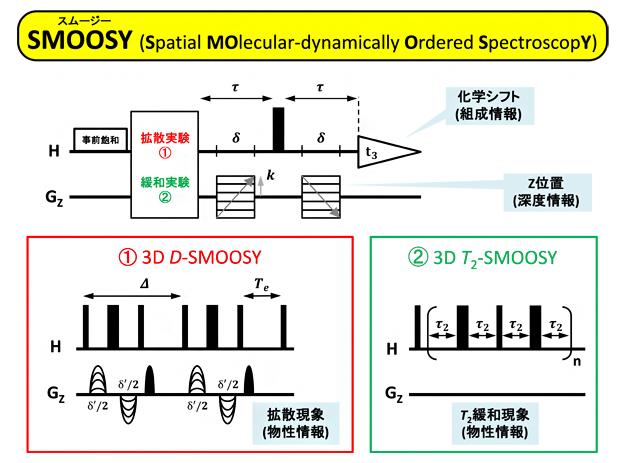 新しいNMRパルスシーケンス「SMOOSY」の図