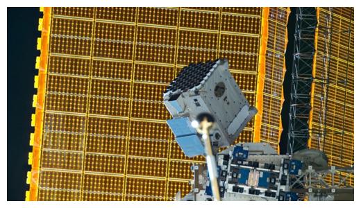 国際宇宙ステーションに搭載されているX線望遠鏡NICER(提供:NASA)の図
