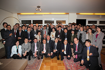 Group photo at the Minister's residence