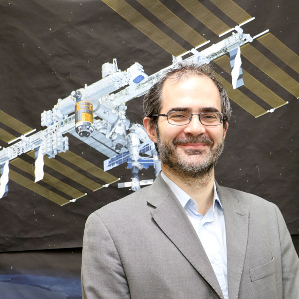 picture of Marco Casolino and ISS