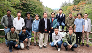 image of Tahei Tahara and his lab members